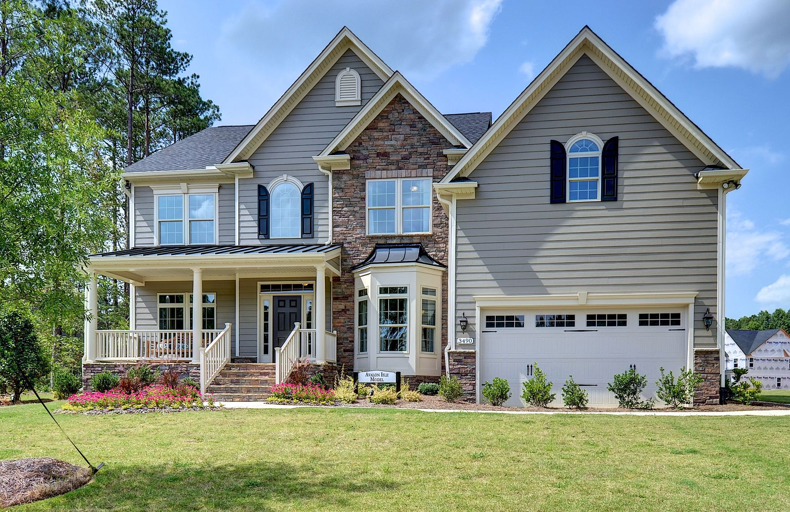 Single Family for Active at Jordan Pointe - Avalon Isle 3490 Regent Branch Drive New Hill, North Carolina 27562 United States
