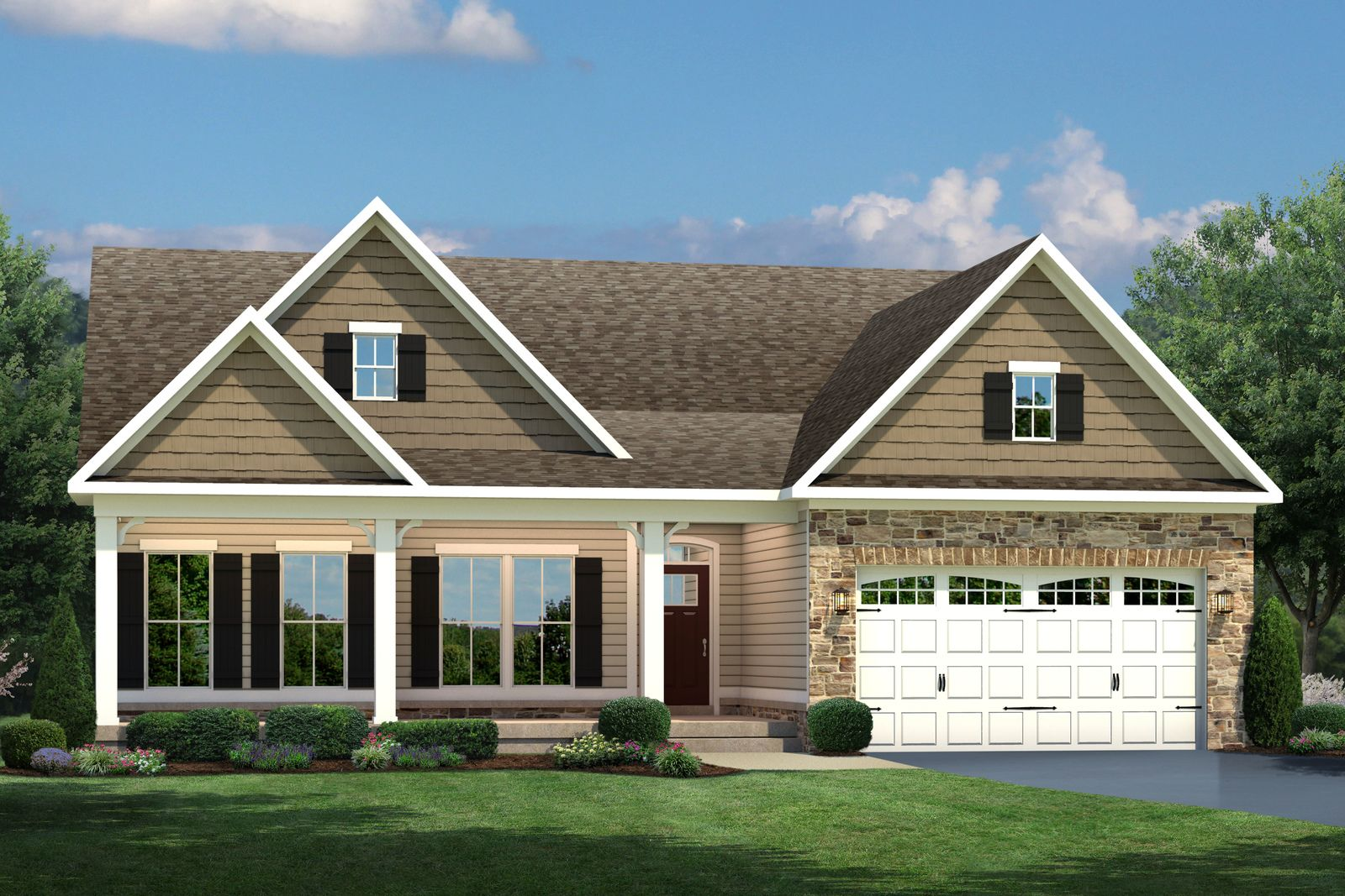 Single Family for Active at Brentwood Springs - Carolina Place 17263 Old Ingleside Drive Round Hill, Virginia 20141 United States