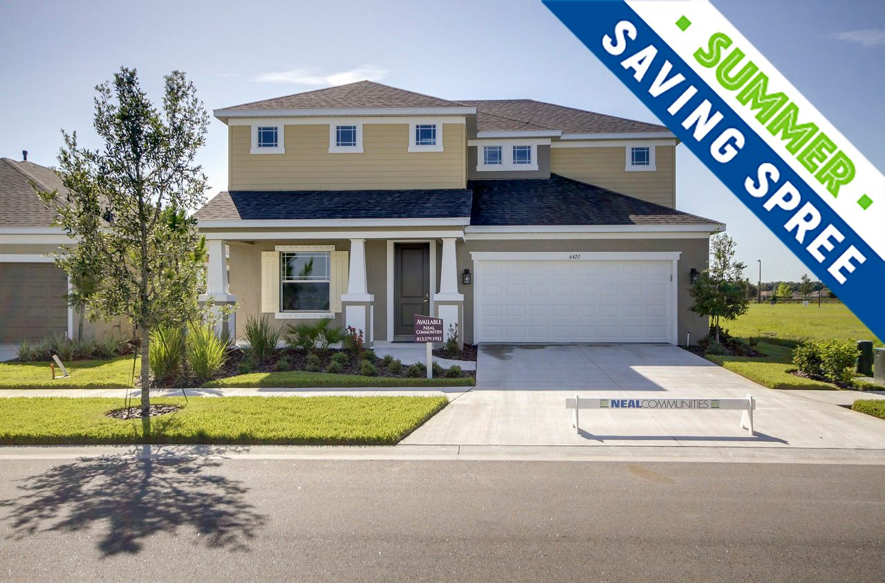 Waterset new homes in Apollo Beach FL by Neal Communities