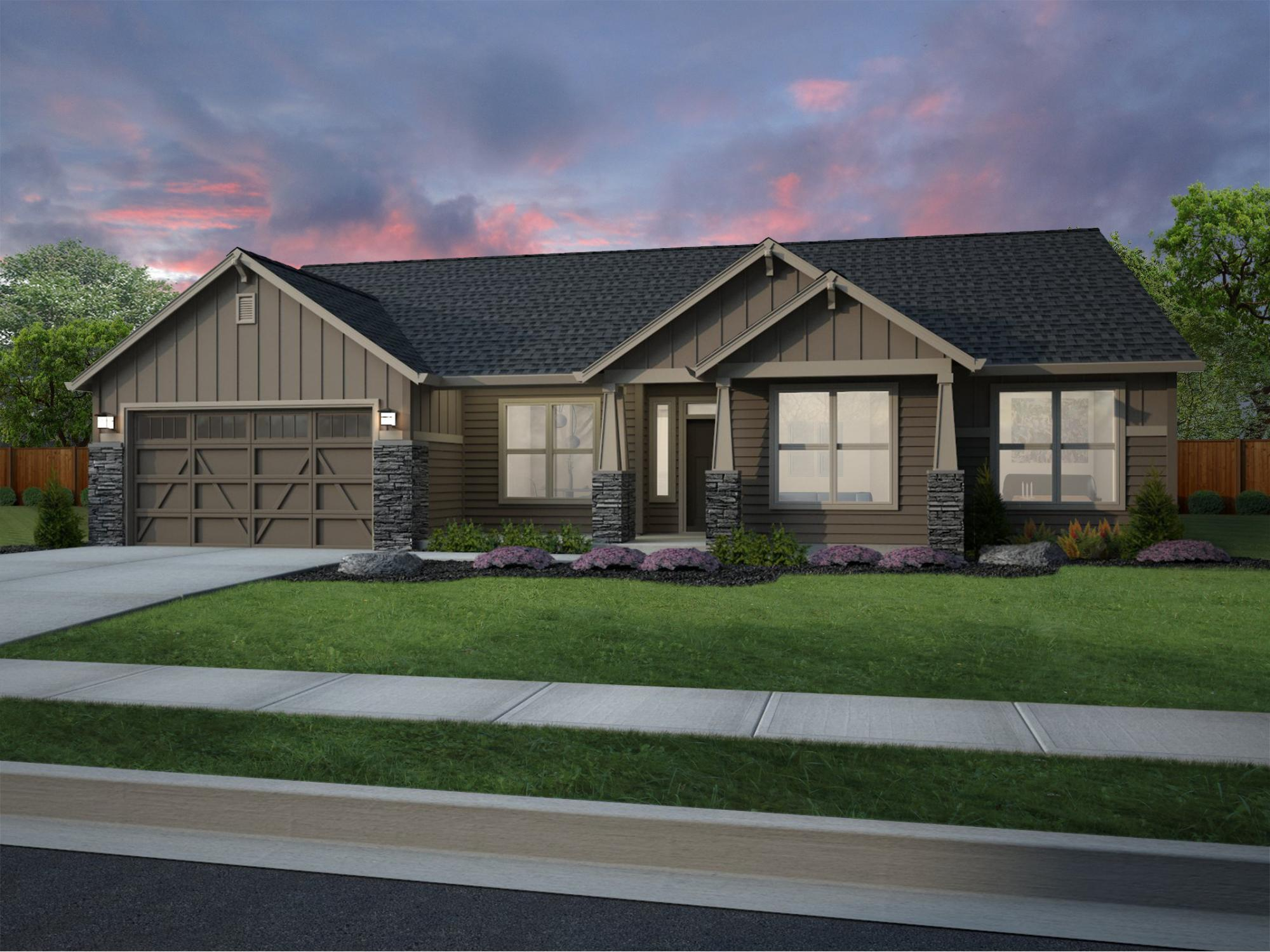 Single Family for Sale at Columbia Terrace - Fircrest 2 9911 Silverbright Drive Pasco, Washington 99301 United States