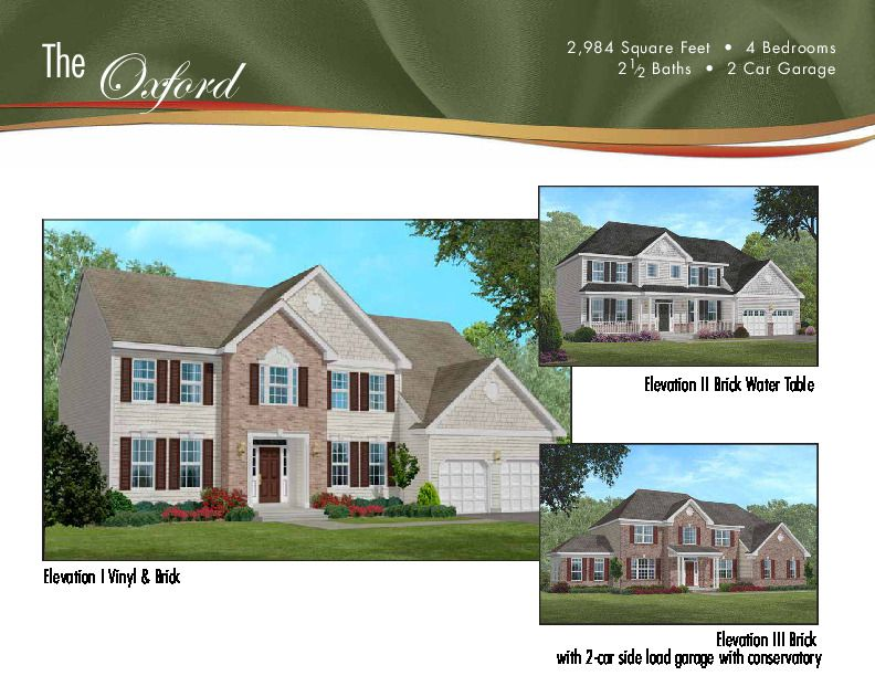Single Family for Sale at Rolling Meadows - The Oxford 1 Bellagio Road Jackson, New Jersey 08527 United States