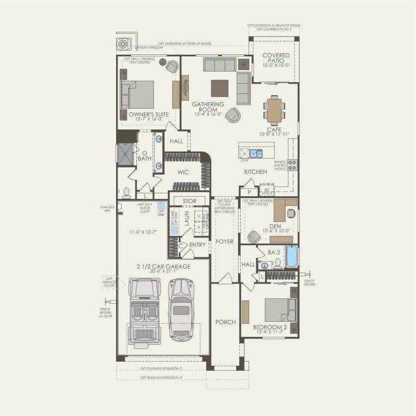 First Floor 2 br / 2 ba