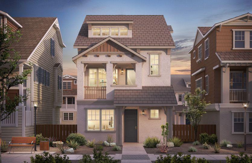 Single Family for Active at Radius - Villas Plan 2 320 Circuit Way Mountain View, California 94043 United States