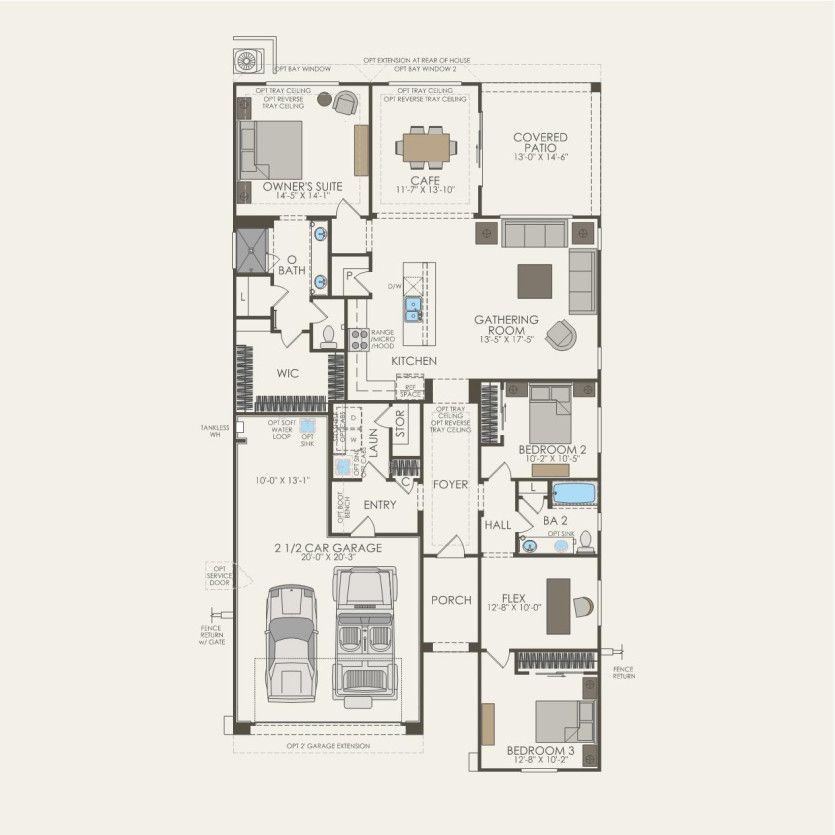First Floor 3 br / 2 ba