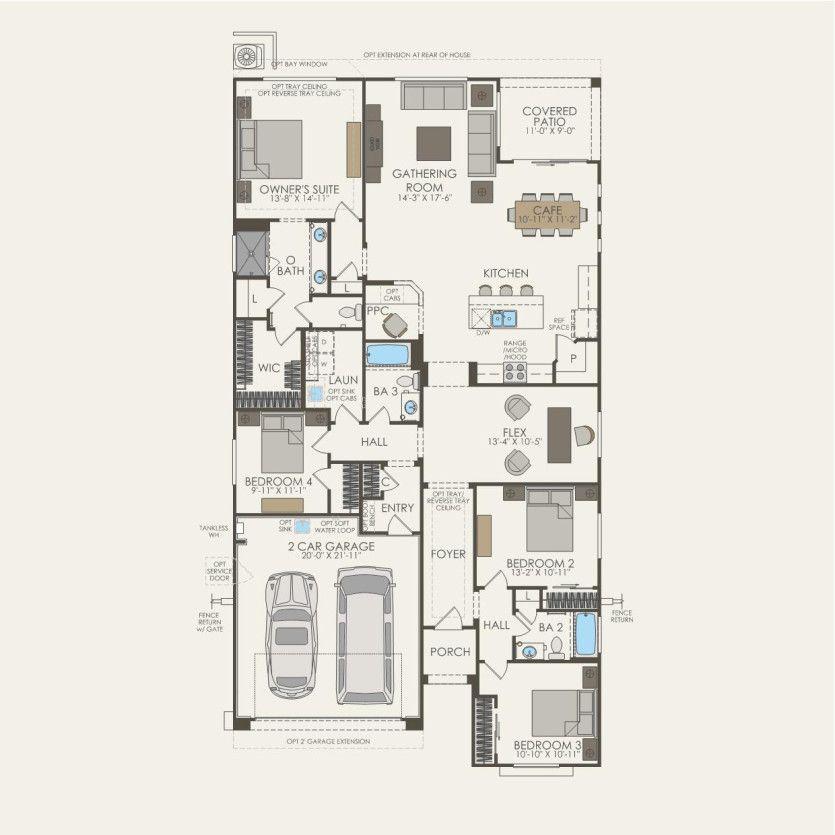 First Floor 4 br / 3 ba