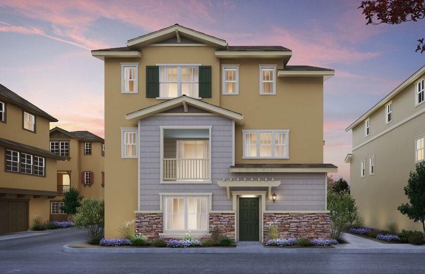 单亲家庭 为 销售 在 Parkside Heights - Plan 1 1271 Walpert Street Hayward, California 94541 United States