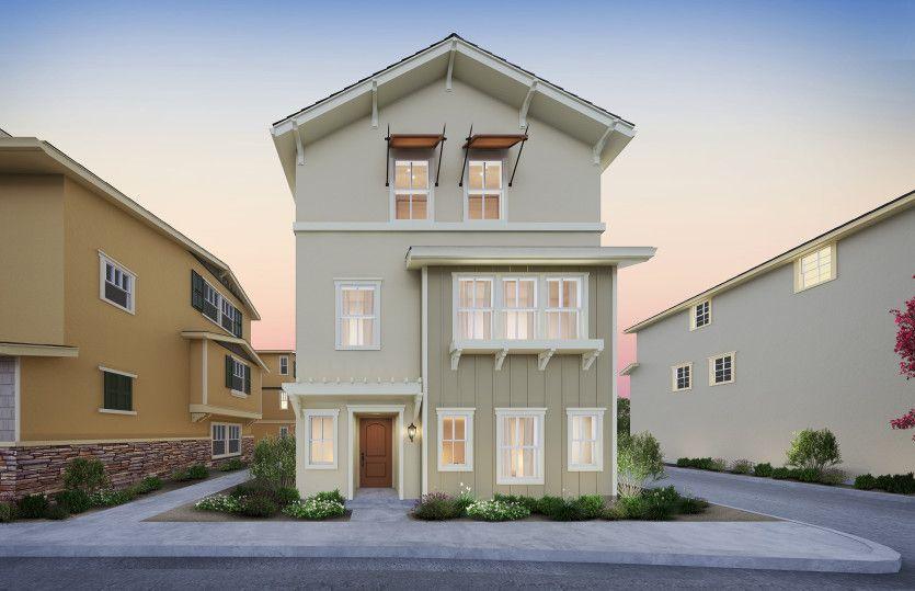 单亲家庭 为 销售 在 Parkside Heights - Plan 2 1271 Walpert Street Hayward, California 94541 United States