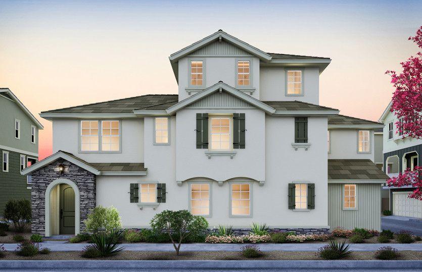 单亲家庭 为 销售 在 Parkside Heights - Plan 4 1271 Walpert Street Hayward, California 94541 United States