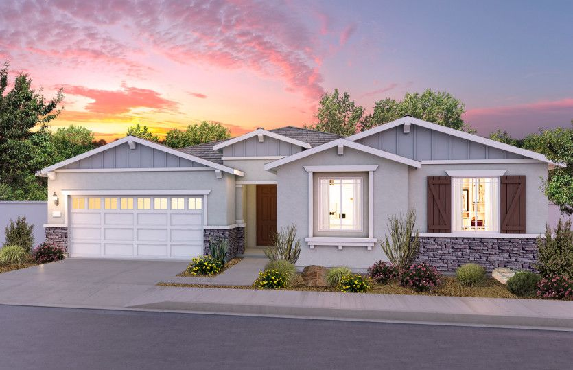 Single Family for Active at Cloverdale Estates - Ferrara 12963 Salers Court Eastvale, California 92880 United States