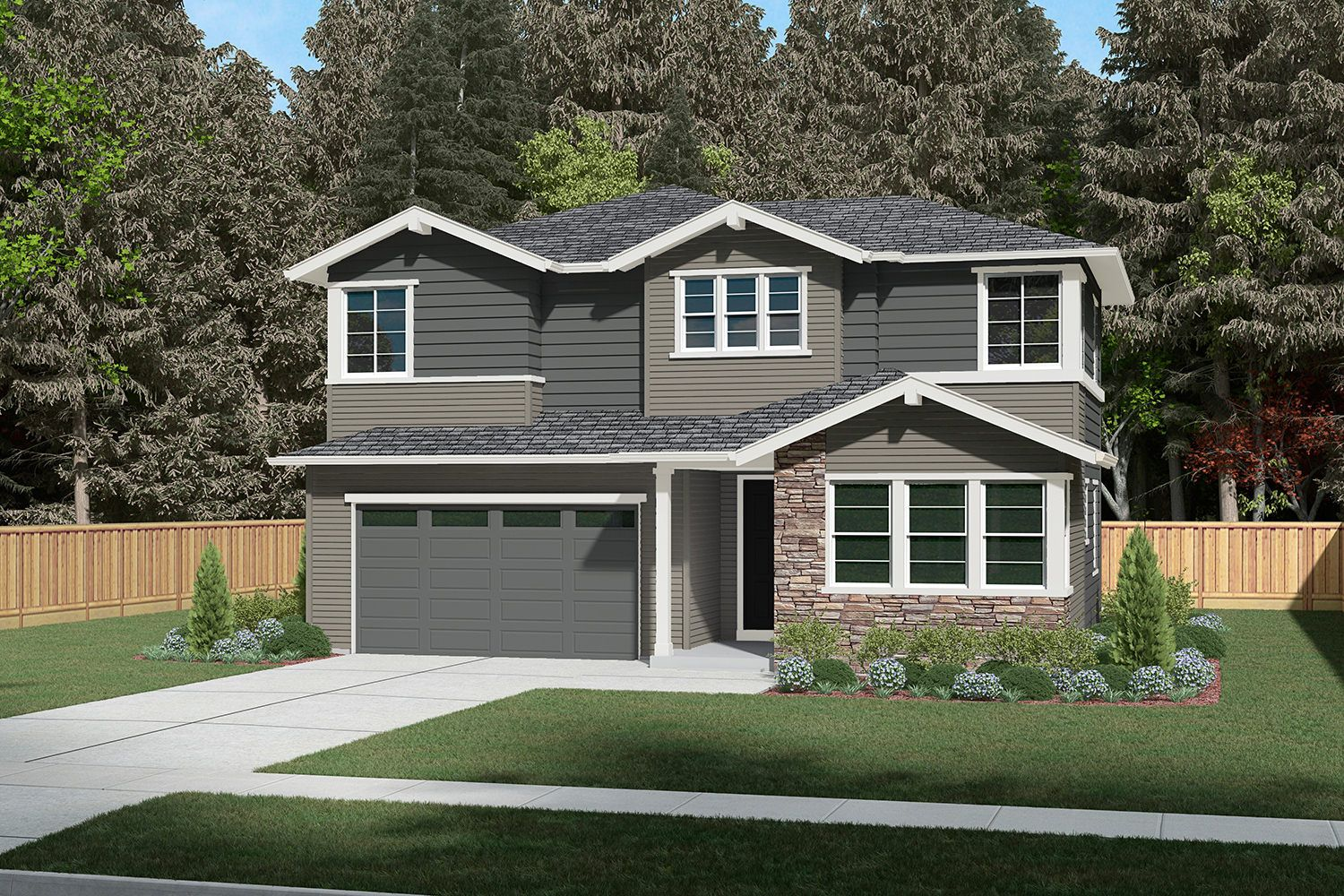 Single Family for Sale at Parkwood Terrace - Residence H-241dl 13599 Ne 205th St Woodinville, Washington 98072 United States