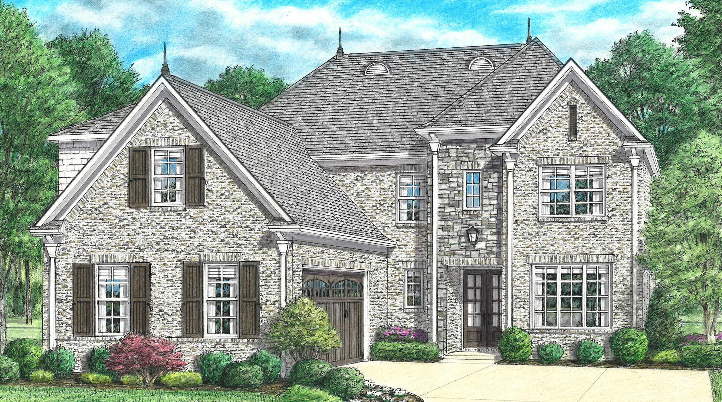 单亲家庭 为 销售 在 Parkview - Riverside 665 Covington Walk Lane South Collierville, Tennessee 38017 United States