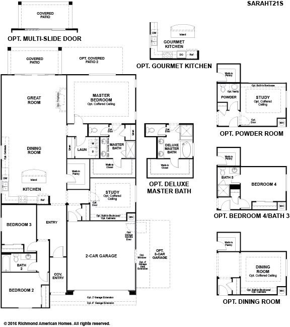 Richmond american homes willow vista sarah 1319672 for Tucson home builders floor plans
