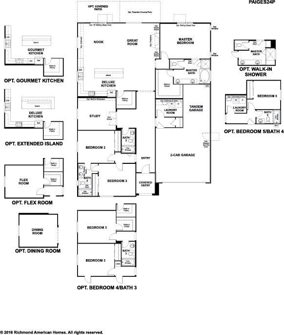 Richmond american homes floor plans california for American home design los angeles