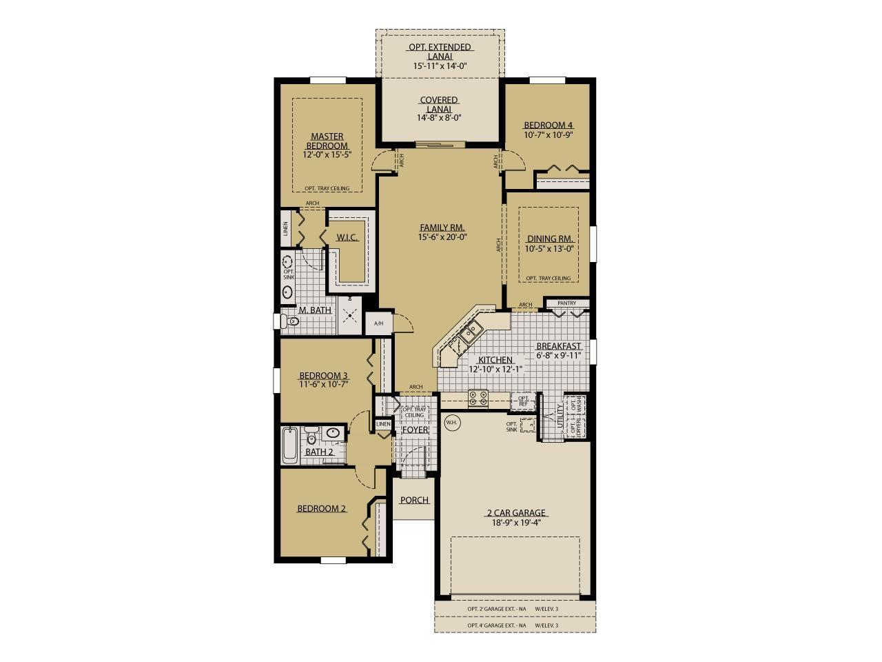 Sweetwater 3 car kingsfield place in brandon Place builders floor plans