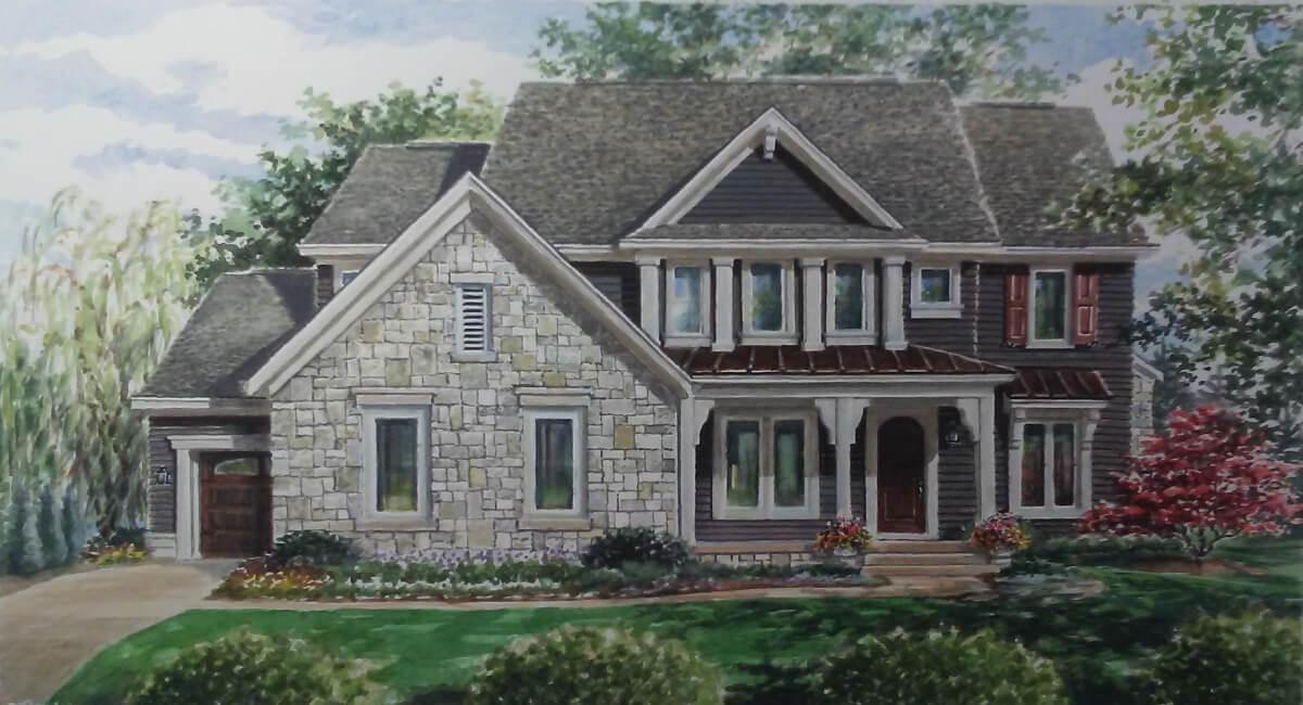单亲家庭 为 销售 在 Waterfront Of West Clay - Bluebird 11685 West Road Carmel, Indiana 46032 United States