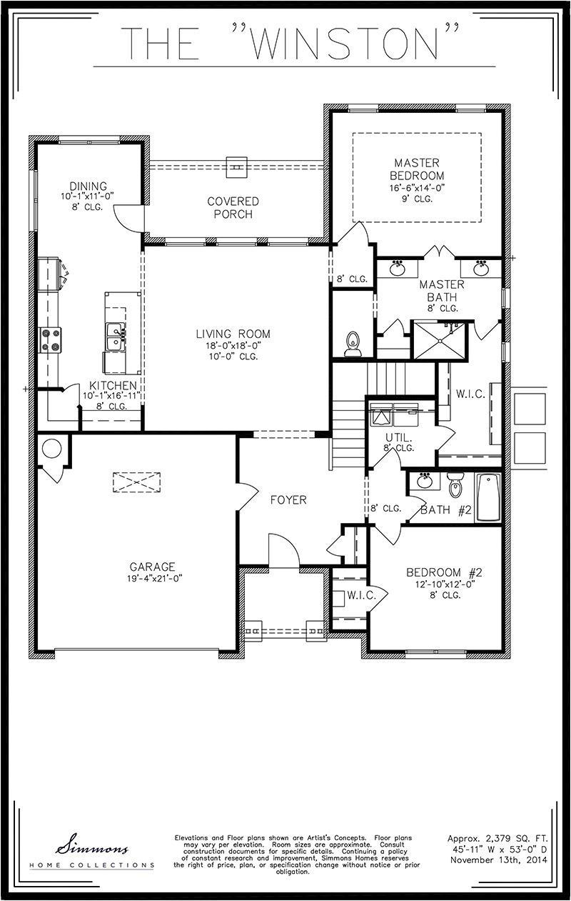 Simmons Homes Cody Floor Plan Home Plan