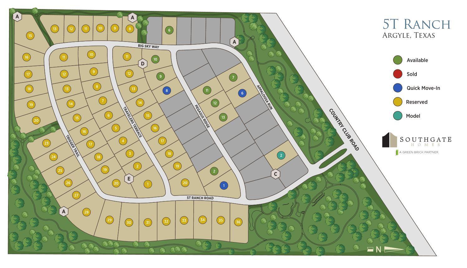 Single Family for Sale at The Montgomery 406 Pegasus Ridge Argyle, Texas 76226 United States