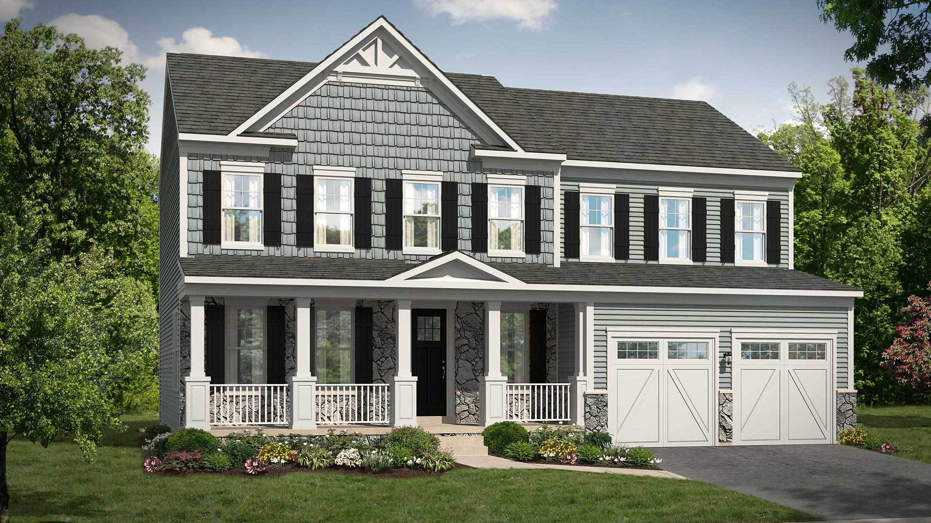 Single Family for Active at Bradley Square - Lindsey 8920 Englewood Farms Drive Manassas, Virginia 20112 United States