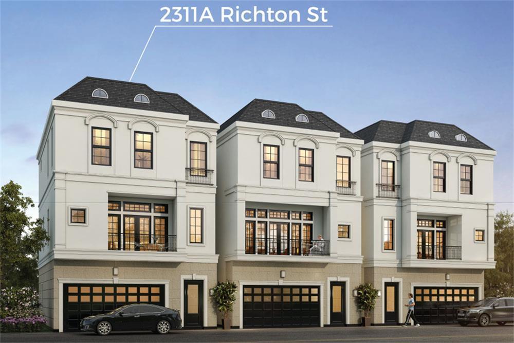 Single Family for Sale at Upper Richton - 2311a Richton 2401 Crawford Street Houston, Texas 77098 United States