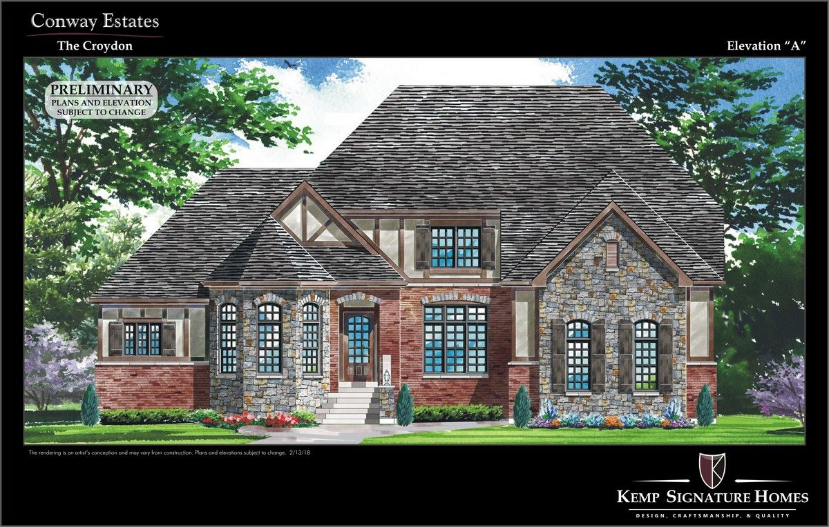 Single Family for Active at Conway Estates - The Croydon 13445 Conway Road St. Louis, Missouri 63141 United States