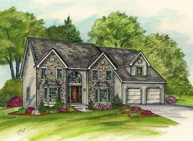 Single Family for Active at Brookview Heights - The Madison 17 Buff Road Saratoga Springs, New York 12866 United States