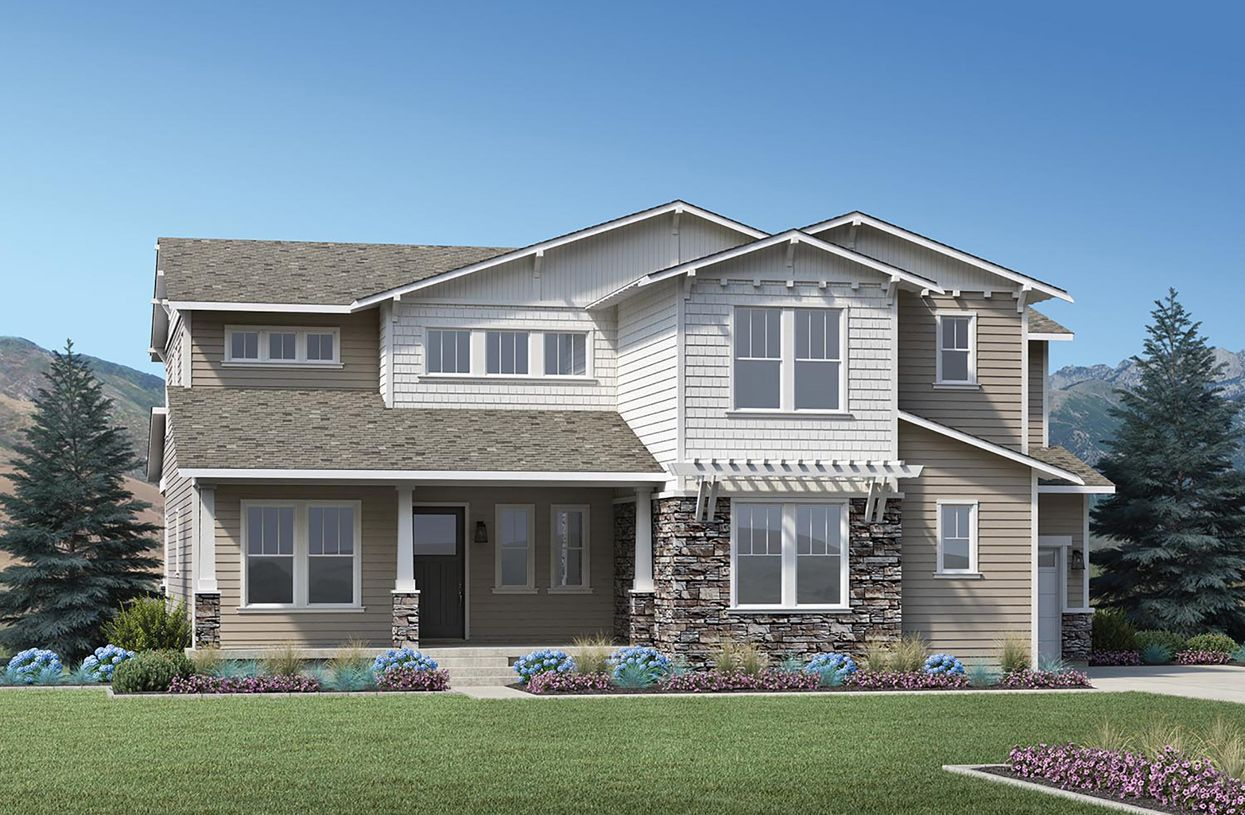 Single Family for Active at Canyon Point At Traverse Mountain - The Summit Collection - Fairbanks 1867 West Oakridge Drive Lehi, Utah 84043 United States