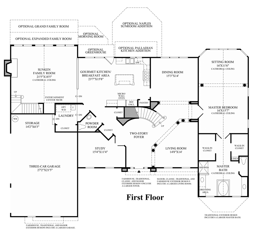 Covington hasentree signature collection in wake forest for Covington floor plan