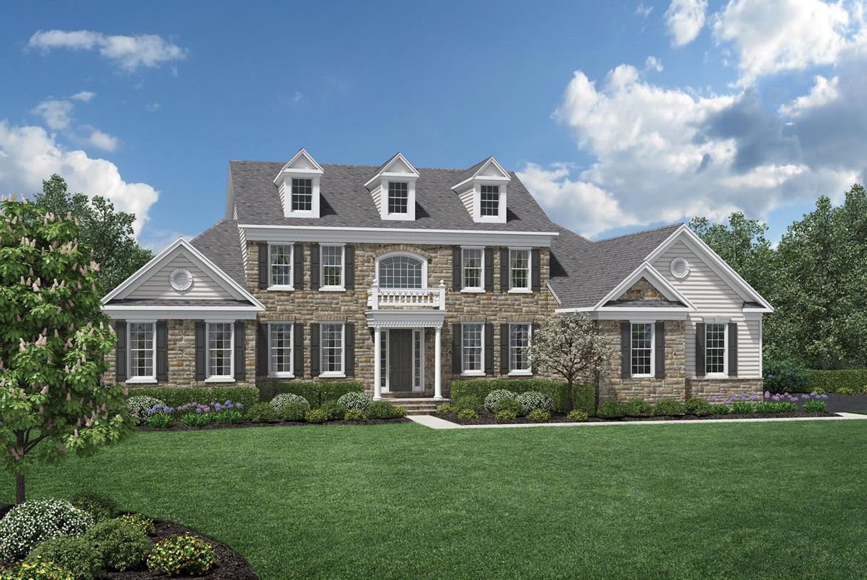 Toll brothers liseter the bryn mawr collection for Newtown builders