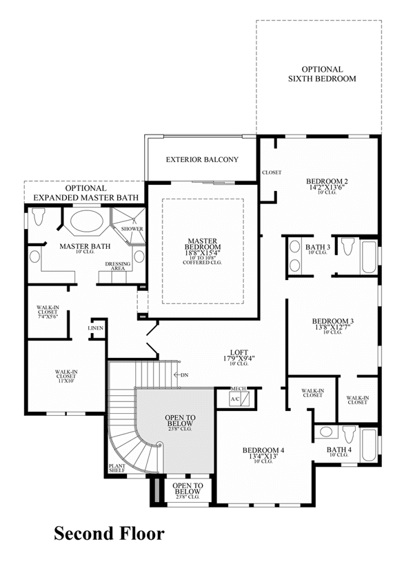Anzi parkland golf country club monogram collection in for Monogram homes floor plans