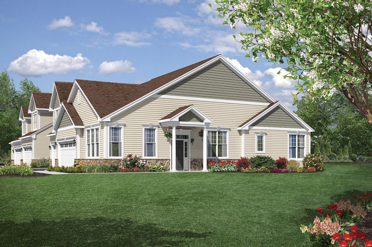 Toll brothers newtown woods townhome collection for Newtown builders