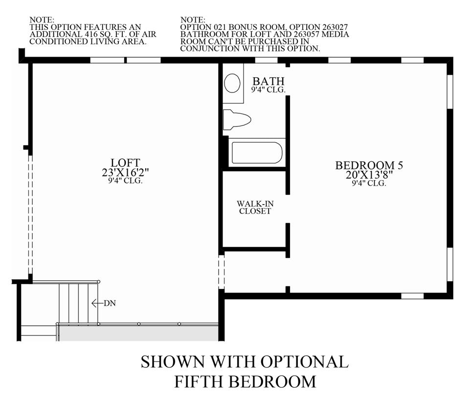 Optional 5th Bedroom