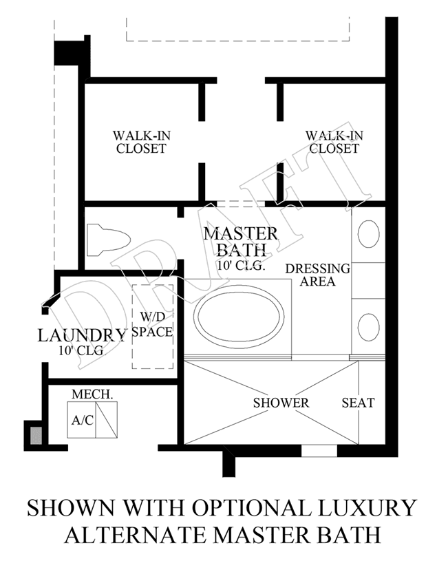 Optional Luxury Alternate Master Bath