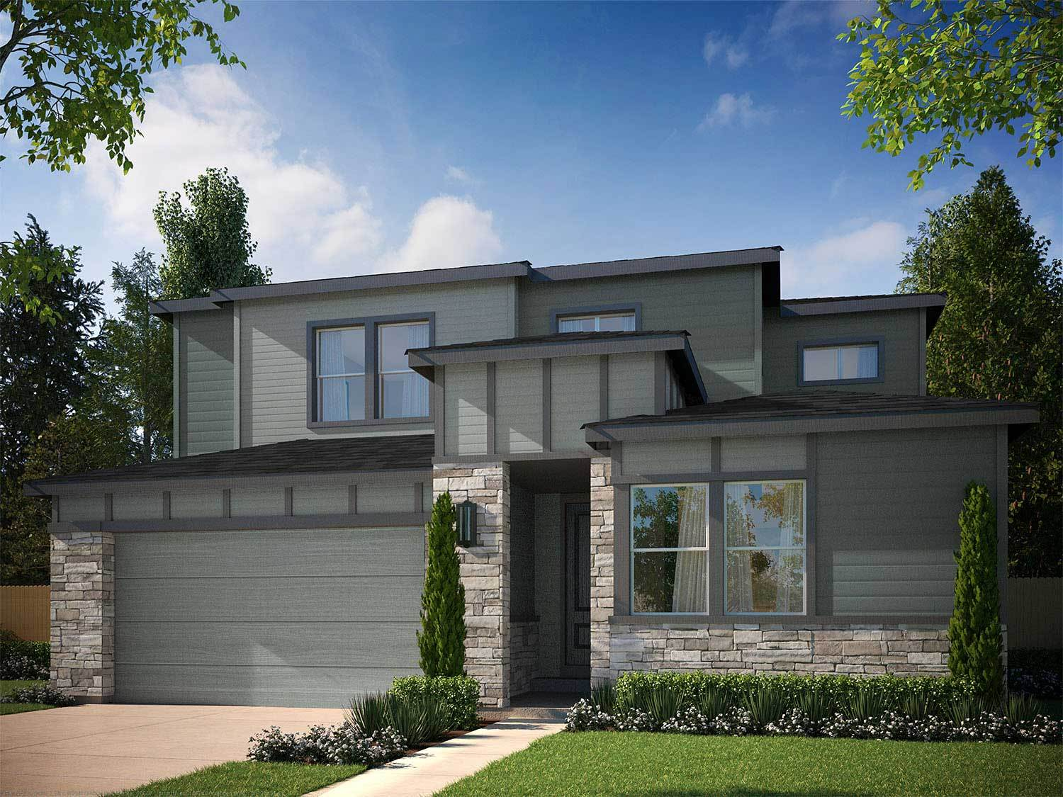 Tri pointe homes debut collection in ravenwood village at for Castle rock house