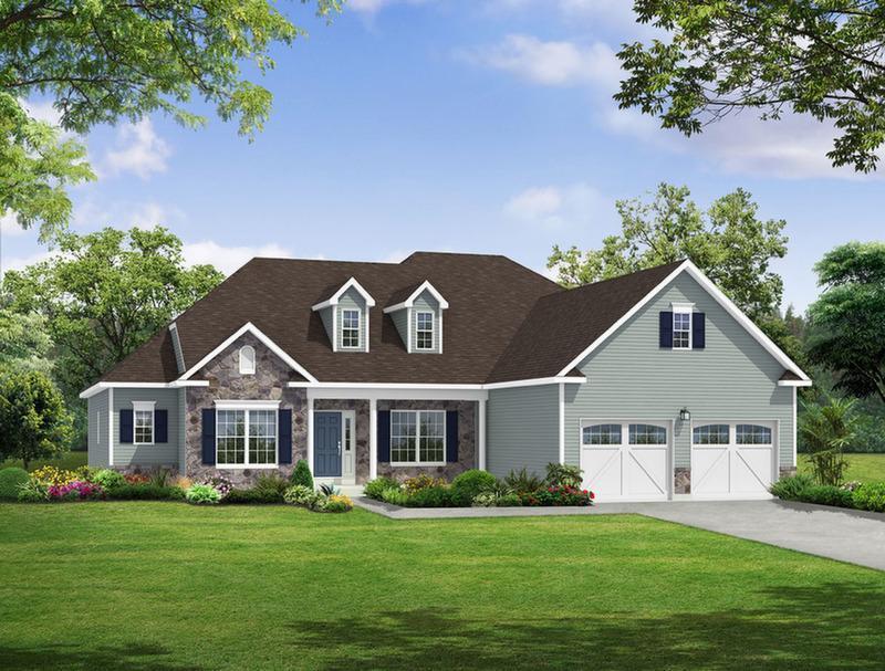 Single Family for Sale at Maple Shade Estates (Bethlehem Twp) - Hampton Farmhouse 3796 Bethman Rd. Easton, Pennsylvania 18045 United States