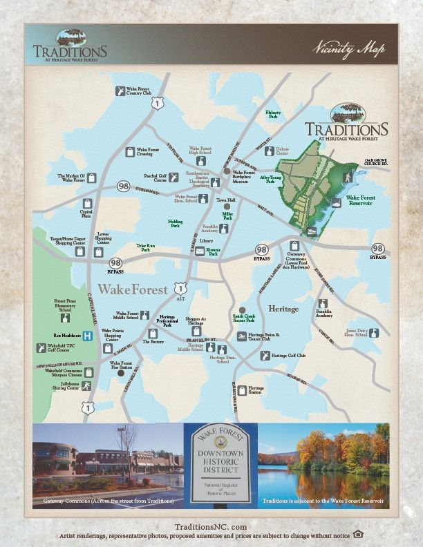 Traditions at Heritage Wake Forest new homes in Wake Forest NC by WS