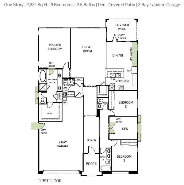 Woodside Homes - Whiterock Plan