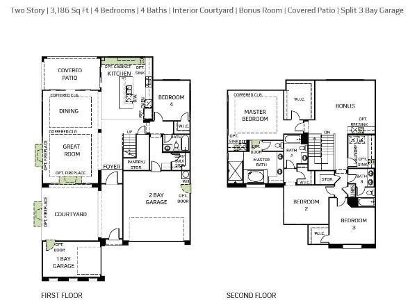 Woodside Homes - Sandstone Plan